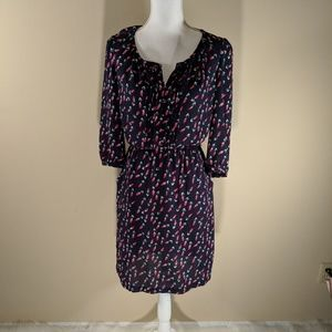 NWOT Daniel Rainn womens dress tulip pink navy